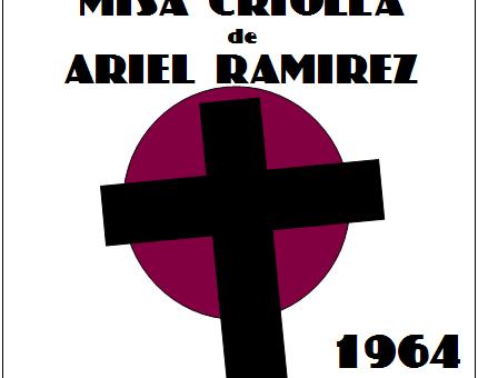 Misa Criolla, uitgevoerd door 'Zingen voor je Leven – Amsterdam' in de kerkdienst van de Protestantse Gemeente Laren-Eemnes in de Ontmoetingskerk, Kerklaan 41, Laren op zondag 22 april 2018 om 10.00 uur