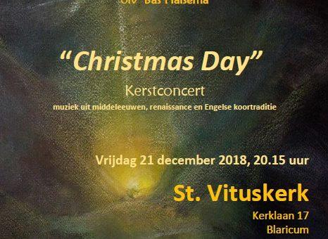 Kerstconcert Goylants Kamerkoor in de Sint Vituskerk, Kerklaan 17, Blaricum. Vrijdag 21 december 2018 20.15 uur
