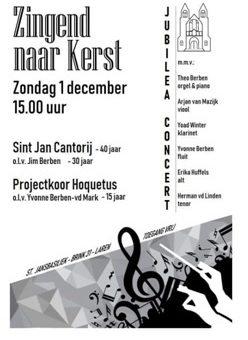 Jubileaconcert Sint Jansbasiliek, Brink 31, Laren. Zondag 1 december 2019 15.00 uur