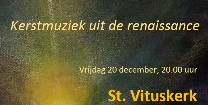 Kerstconcert in de St. Vituskerk Kerklaan 17, Blaricum. Vrijdag 20 december 2019 20.00 uur